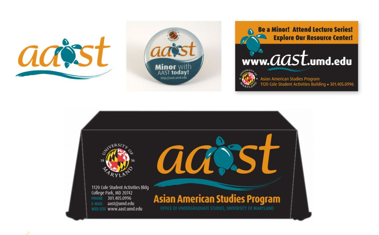 Logo design and collateral material for Asian American Studies Program