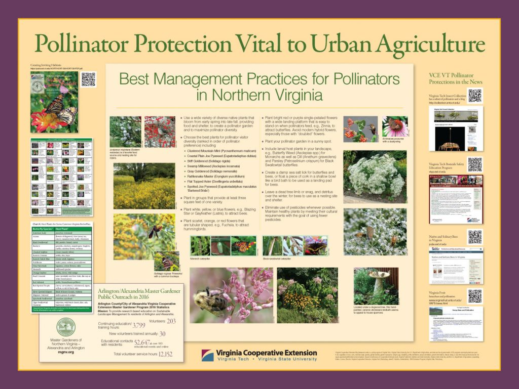 Poster promoting pollinators protection in Northern Virginia
