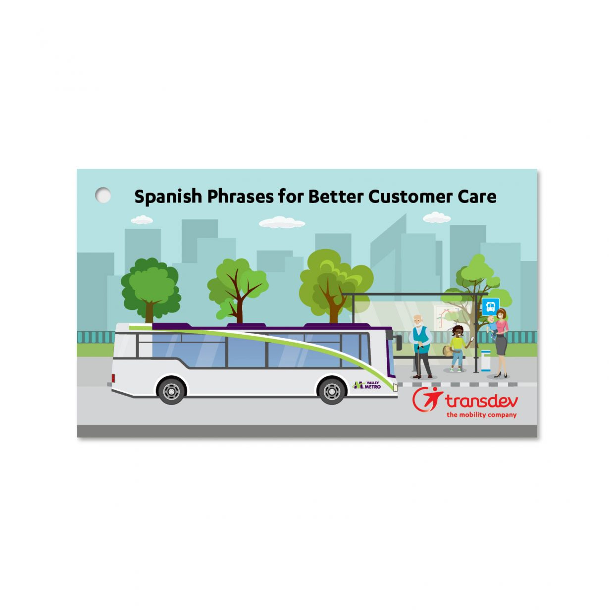 Cover of Spanish phrases booklet
