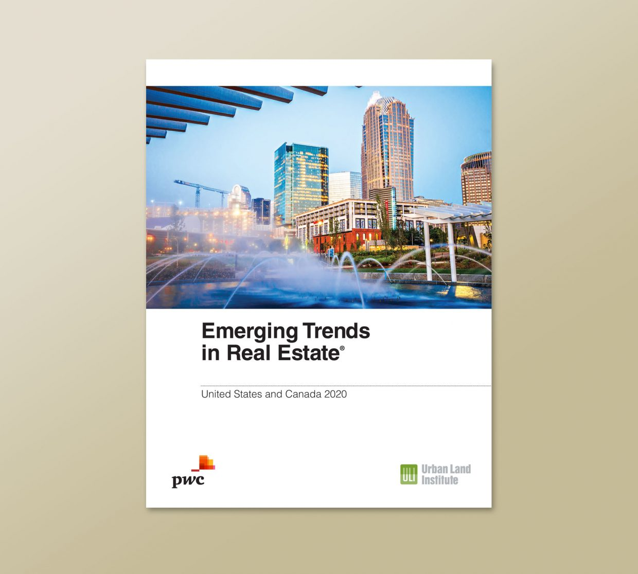 """Emerging Trends in Real Estate®"" 2020, front cover of booklet"
